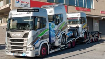 El primer Scania portavehículos adaptado de GNL de Europa lo tiene Transordizia